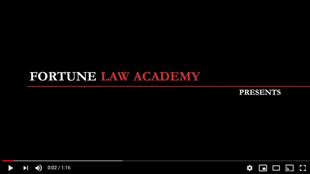 "Recently Launched Fortune Law Academy Video Series: ""Law for Entrepreneurs."""