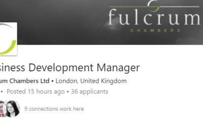 Client Business Development Role – Fulcrum