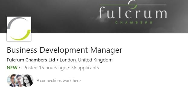 Client Business Development Role – Fulcrum