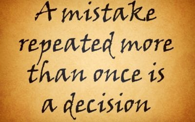Repeating Our Mistakes